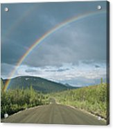 Double Rainbow Over The Denali Highway Acrylic Print