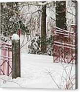 Double Red Iron Gates Acrylic Print