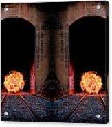 Double Tunnel On Fire Acrylic Print