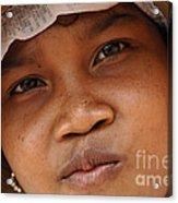 Cambodian Girl Acrylic Print