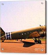 Douglas C47 Skytrain Military Aircraft . Painterly Style 7d15788 Acrylic Print by Wingsdomain Art and Photography
