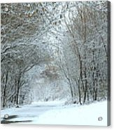 Down A Winter Road Acrylic Print