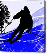 Downhill On The Ski Slope  Acrylic Print