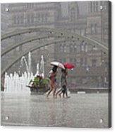 Downpour In Toronto Acrylic Print