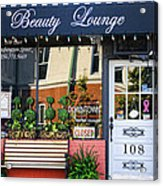 Downtown Beauty Lounge Acrylic Print