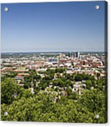 Downtown Birmingham Alabama On A Clear Day Acrylic Print