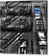 Downtown Blue Sky Dreams Acrylic Print