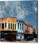 Downtown Bryan Texas 360 Panorama Acrylic Print