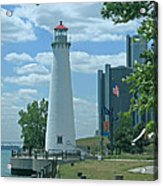 Downtown Detroit Lighthouse Acrylic Print