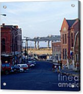 Downtown Eastport Maine Acrylic Print by Geri Harkin-Tuckett
