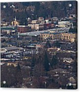 Downtown Grants Pass Sunday Morning Acrylic Print