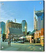 Downtown Nashville IIi Acrylic Print by Steven Ainsworth