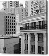 Downtown San Francisco Buildings - 5d19323 - Black And White Acrylic Print