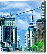 Downtown Union Ave Memphis Tn Acrylic Print