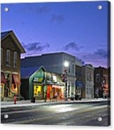 Downtown Waterville At Christmastime Acrylic Print