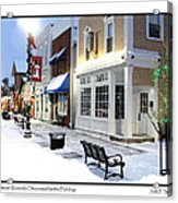 Downtown Waterville Decorated For The Holidays Acrylic Print