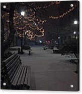 Downtown Winter Acrylic Print