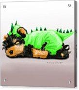 Dragon Baby Yorkie Acrylic Print