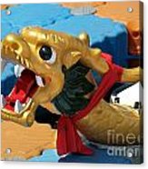 Dragon Figurehad Of A Chinese Boat Acrylic Print