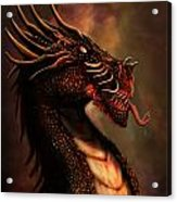 Dragon Portrait Acrylic Print