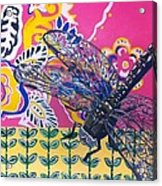 Dragonfly Acrylic Print by Amy Reisland-Speer