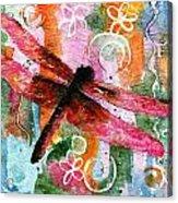 Dragonfly Fairy I Acrylic Print