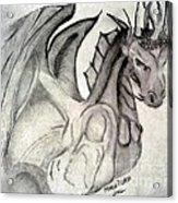 Dragonheart - Bw Acrylic Print
