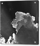 Dramatic Black And White Sunbeams And Storm Clouds Maine Fine Art Print Acrylic Print