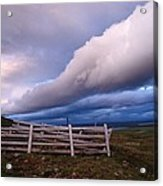 Dramatic Cloud Formations Acrylic Print