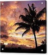 Dramatic Fiji Sunrise Acrylic Print