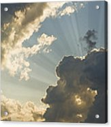 Dramatic Sunbeams And Storm Clouds Maine Photo Poster Print Acrylic Print