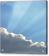 Dramatic Sunbeams And Storm Clouds Maine Poster Print Acrylic Print