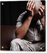 Dramatization Of A Us Marine Affected Acrylic Print