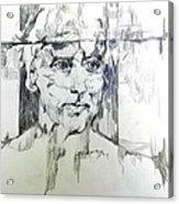 Drawing Of A Man Acrylic Print