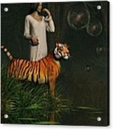 Dreams Of Tigers And Bubbles Acrylic Print