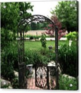 Dreamy French Garden Arbor And Gate Acrylic Print by Kathy Fornal