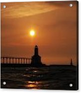 Dreamy Sunset At The Lighthouse Acrylic Print