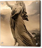 Dreamy Surreal Guardian Angels Ascent To Heaven Acrylic Print
