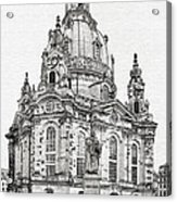 Dresden's Church Of Our Lady - Reminder Of Peace Acrylic Print