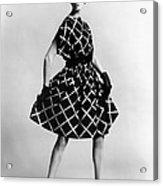 Dress By Pauline Trigere. Short Acrylic Print