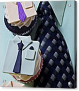 Dress Shirt Cupcakes Acrylic Print by Garry Gay