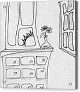 Dresser And Window Acrylic Print