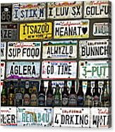 Drinking And Driving Acrylic Print