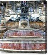 Drinking Fountain Acrylic Print by Barry R Jones Jr