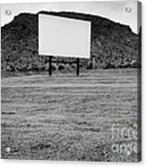 Drive In Movie Theater  Acrylic Print