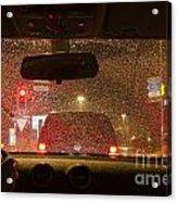 Driving A Car At Night Acrylic Print