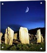 Drombeg, County Cork, Ireland Moon Over Acrylic Print