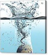 Drowning Earth, Conceptual Image Acrylic Print