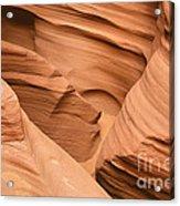 Drowning In The Sand - Antelope Canyon Az Acrylic Print