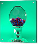 Drug Pills In A Sweet Dispenser Acrylic Print